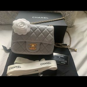 2020 Summer and Spring Chanel mini Light grey